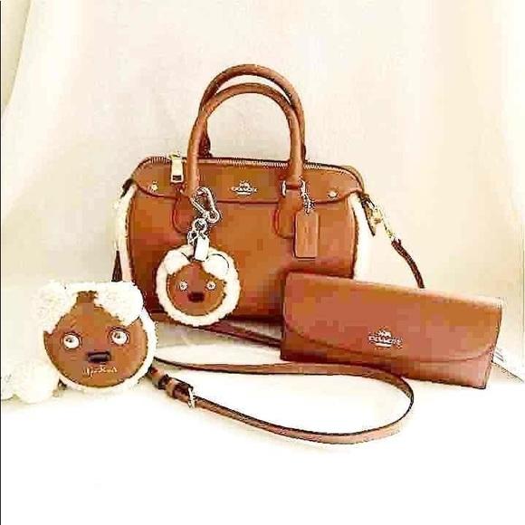 3c06ee8328 🔥SALE🔥Coach Shearling Bennett Handbag Set NWT